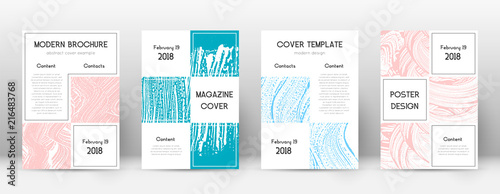 Cover page design template Canvas Print