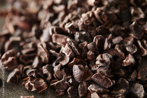 Cacao nibs background Wallpaper Mural