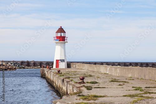 Foto op Aluminium Vuurtoren Grand Bank Wharf Lighthouse