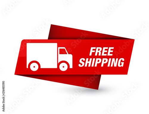 Free shipping premium red tag sign