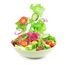 Vegetable Salad Isolated