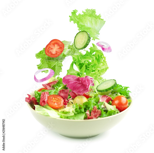 Obraz na płótnie vegetable salad isolated