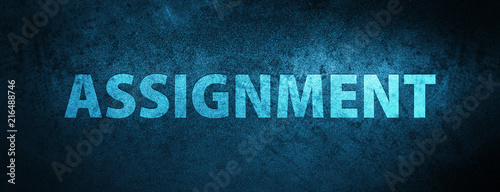 Assignment special blue banner background Canvas Print