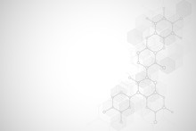 Abstract Molecular Structure A...