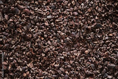 Fotografía Cacao nibs background