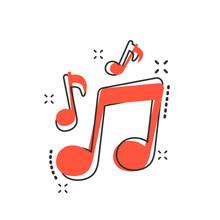 Vector Cartoon Music Icon In C...