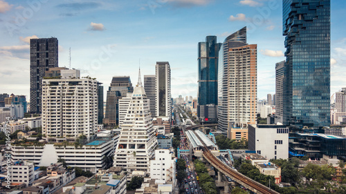 Foto op Aluminium Stad gebouw Bangkok downtown and business financial district of Thailand