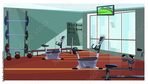 Vector changing room with lockers for sports stock vector