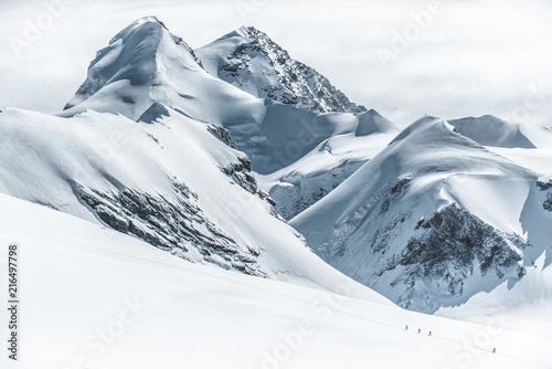 Breithorn Castor Pollux swiss peaks  - fototapety na wymiar