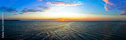 Obraz Panorama of Sunrise at the Baltic Sea - Poland - fototapety do salonu