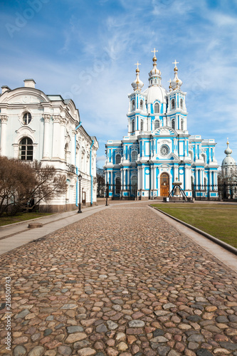 Foto op Plexiglas Asia land Smolny Cathedral in Saint Petersburg