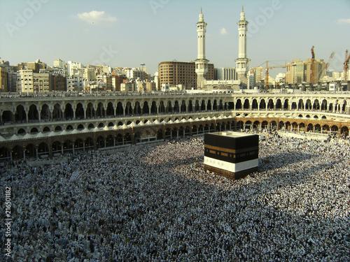 Muslims circumambulate the Kaaba in Mecca, Saudi Arabia.