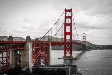 Fototapeta Mosty Golden gate - old fashion