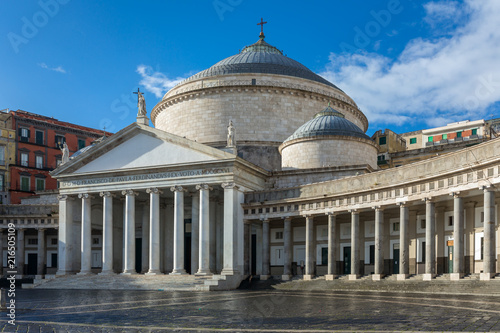 Church San Francesco di Paola, Plebiscito Square ( Piazza del Plebiscito ) in Na Tablou Canvas