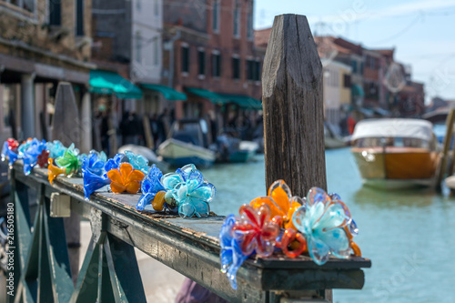 Traditional Murano glass in old town of the island, Venice, Italy Wallpaper Mural