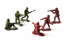 A War Battle Of Toy Soldiers, ...