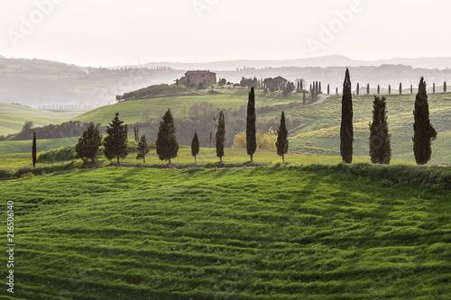 Deurstickers Toscane Green hills of Tuscany