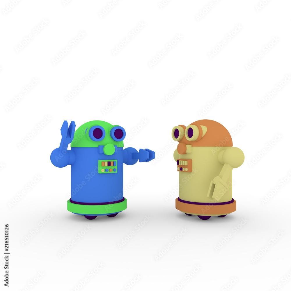 Fototapety, obrazy: cartoon robots