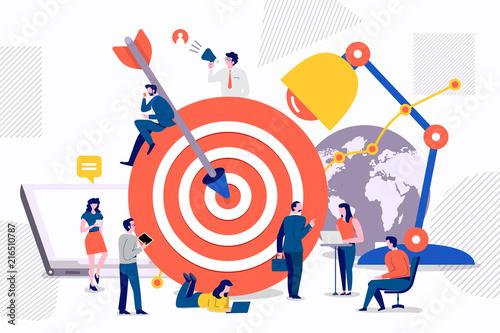 Fotomural Teamwork target marketing