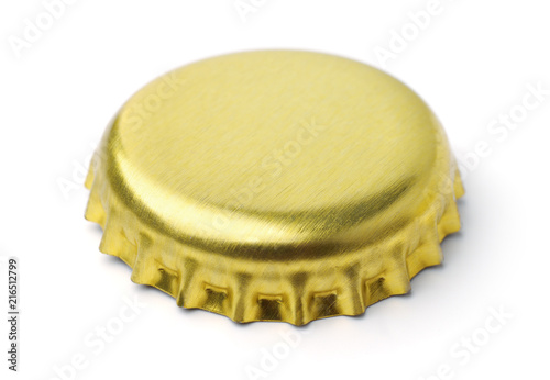 Golden blank bottle cap