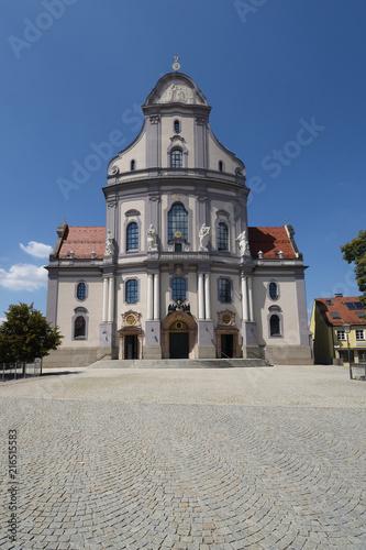 Altötting, Bayern, Deutschland - Juli 30, 2018 : Ein Blick auf die Basilika St Billede på lærred
