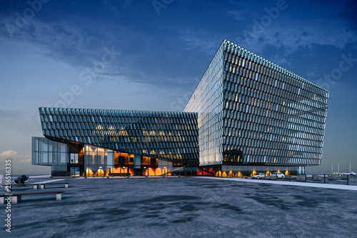 Fototapety, obrazy: 3d render, visualization of modern glass commercial building