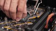 Professional man repairing and assembling a computer desktop