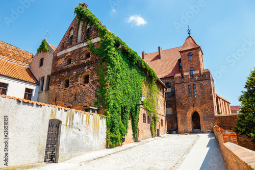 Cuadros en Lienzo view of historical buildings in polish medieval town Torun in Poland