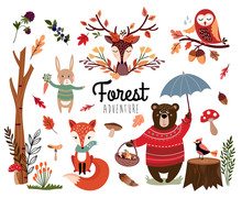 Forest Element Collection With...