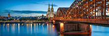 Skyline Von Köln Mit Kölner ...
