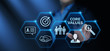 Leinwanddruck Bild - Core Values Responsibility Ethics Goals Company concept