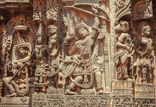 South Indian Temple Relief Wit...