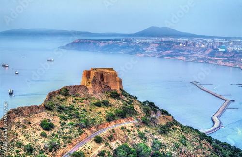 Foto op Plexiglas Historisch geb. Fort Santa Cruz in Oran, Algeria