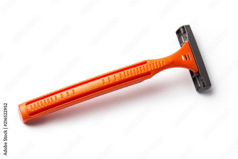 Fototapety, obrazy: Orange shaver, isolated on white background