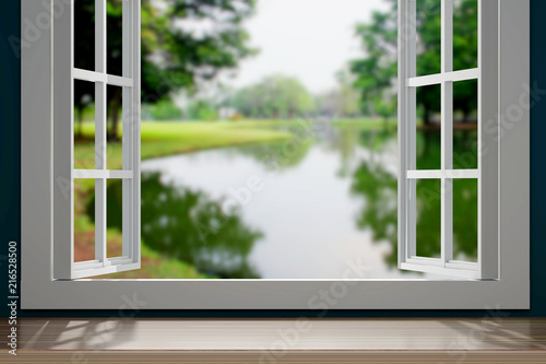 Obraz windows 3d rendering - fototapety do salonu