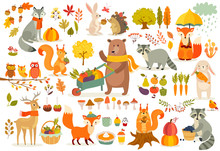 FAll Theme Set, Forest Animals...