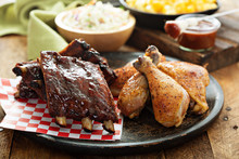 Grilled Or Smoked Ribs And Chi...