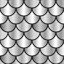 Monochrome Silver Shiny Scales...