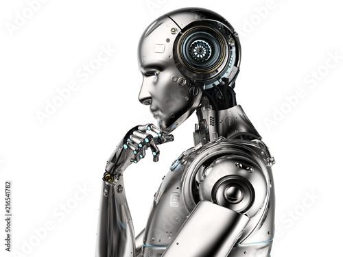 ai robot thinking Canvas Print