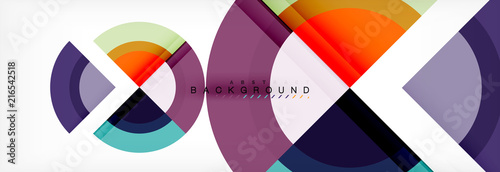 Photo Vector circular geometric abstract background