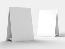 Mock Up Menu Frame On Table. 3D