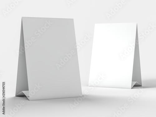 Fotografía Mock up menu frame on table. 3D