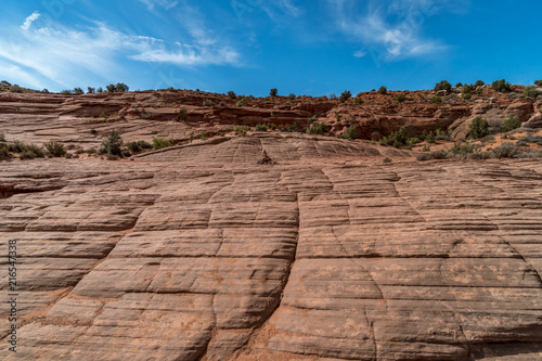 Tuinposter Zalm Hiking Trail Utah Slot Canyons