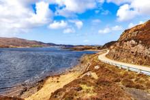 Highway A837 Along Loch Assynt...