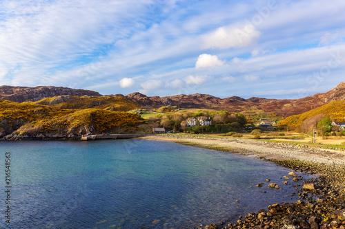 Poster Blauwe hemel Landscape of Scourie