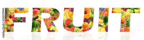 Fotografia Diferentes frutas, com diferentes texturas e cores