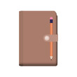 diary closed with pencil vector illustration design