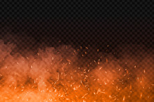 Vector Realistic Isolated Fire...