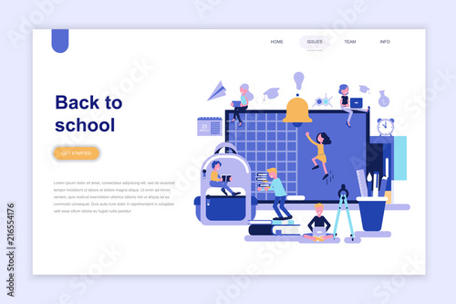 Landing Page Template Of Back To School Modern Flat Design Concept Learning And People Concept Conceptual Flat Vector Illustration For Web Page Website And Mobile Website Buy This Stock Vector And