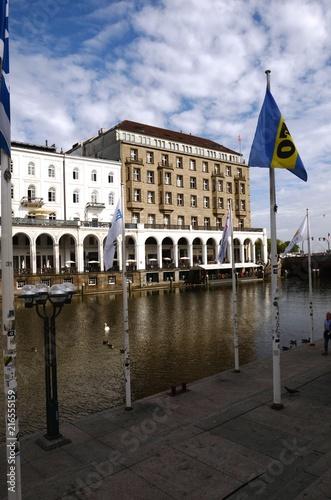 In de dag Noord Europa Bassin de la petite Alster à Hambourg (Allemagne)